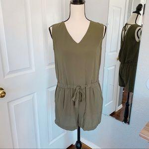 Zara Romper Olive green medium shorts sleeveless